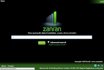 screen shot of zanran search website
