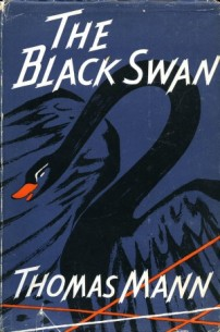 book cover of black swan with navy background
